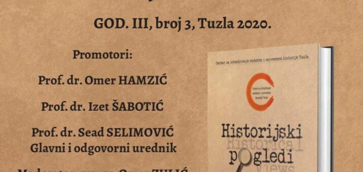PREDSTAVLJANJE ČASOPISA HISTORIJSKI POGLEDI BR. 3